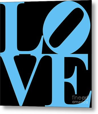 Love 20130707 Blue Black Metal Print by Wingsdomain Art and Photography