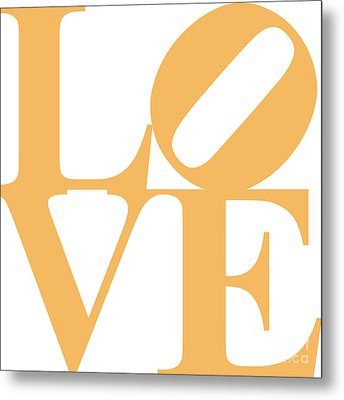 Love 20130707 Orange White Metal Print by Wingsdomain Art and Photography