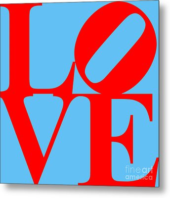 Love 20130707 Red Blue Metal Print by Wingsdomain Art and Photography