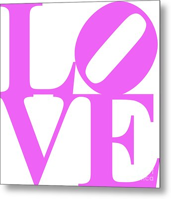 Love 20130707 Violet White Metal Print by Wingsdomain Art and Photography