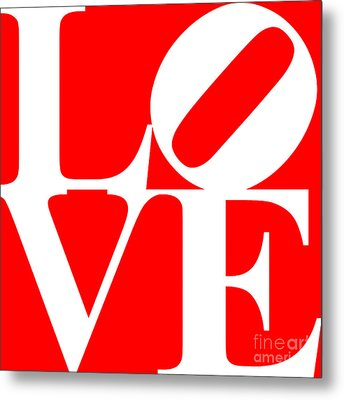 Love 20130707 White Red Metal Print by Wingsdomain Art and Photography