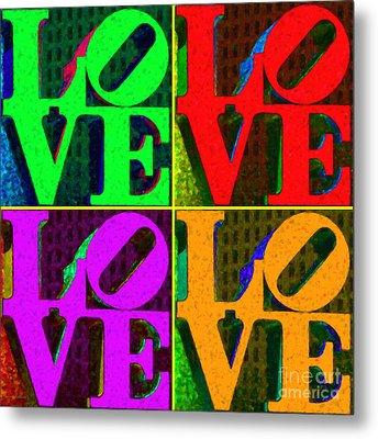 Love 4 Philadelphia - Painterly V4 Metal Print by Wingsdomain Art and Photography