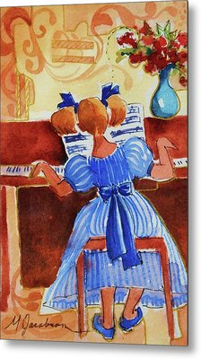 Love A Piano 3 Metal Print by Marilyn Jacobson