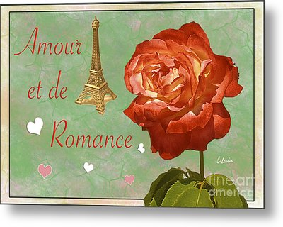 Love And Romance Metal Print by Claudia Ellis