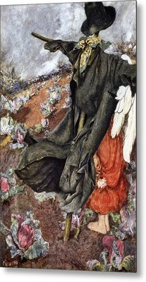 Love And The Scarecrow Metal Print by Eleanor Fortescue Brickdale