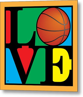 Love Basketball Metal Print by Gary Grayson