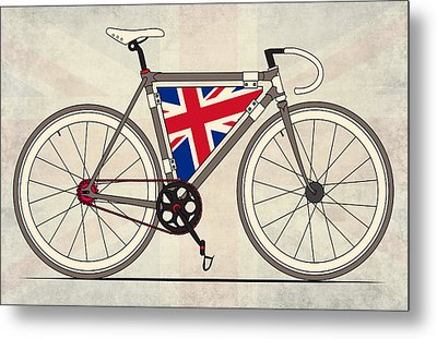 Love Bike Love Britain Metal Print