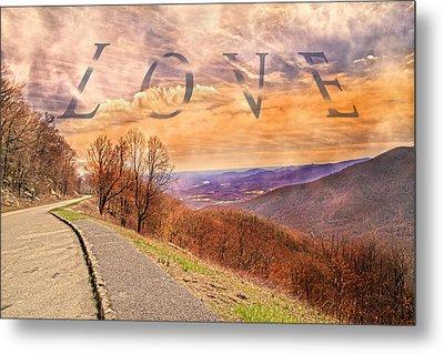 Love Blue Ridge Parkway Metal Print by Betsy Knapp