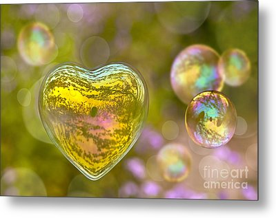 Love Bubble Metal Print by Delphimages Photo Creations