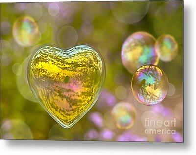 Love Bubble Metal Print