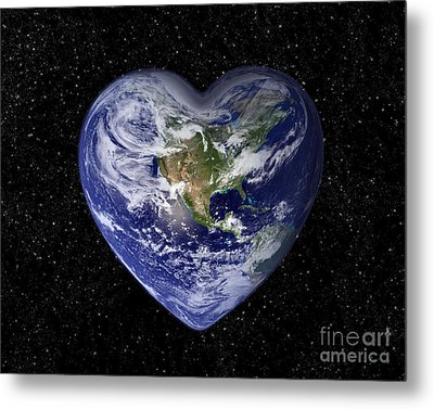 Love Earth Metal Print by Delphimages Photo Creations
