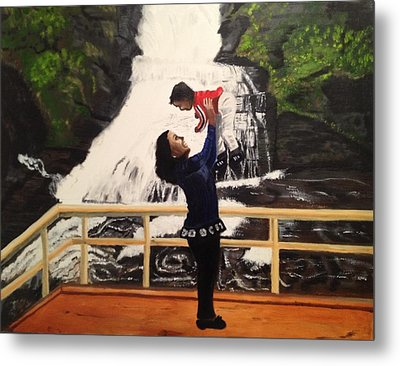 Love Flows Like The Waterfalls Metal Print by Brindha Naveen