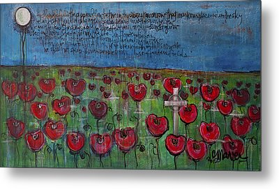 Love For Flanders Fields Poppies Metal Print by Laurie Maves ART