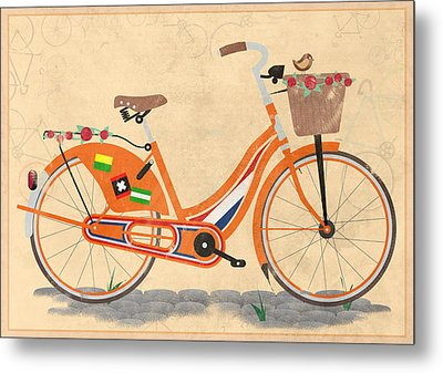 Love Holland Love Bike Metal Print