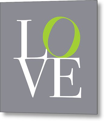 Love In Grey With A Lime Twist Metal Print by Michael Tompsett