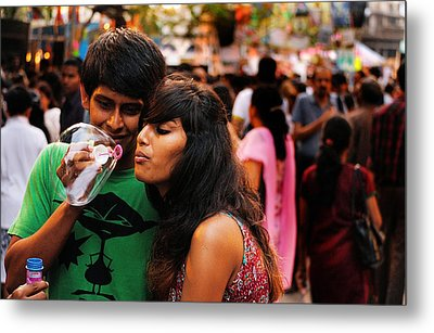 Love In The Air Metal Print by Money Sharma