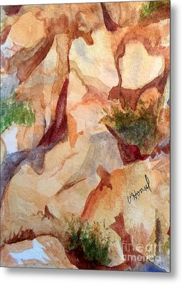 Love In The Rocks Medjugorje 2 Metal Print by Vicki  Housel