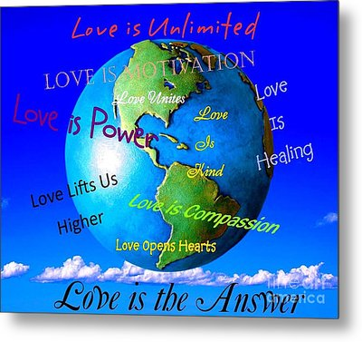 Metal Print featuring the digital art Love Is. . . . by Bobbee Rickard