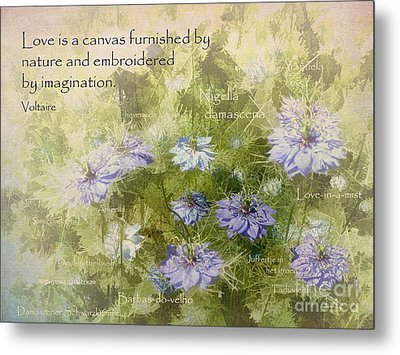 Love Is A Canvas Metal Print