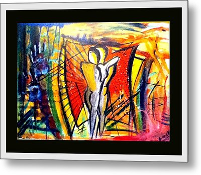 Love Is A Struggle Metal Print by Andrew Varghese