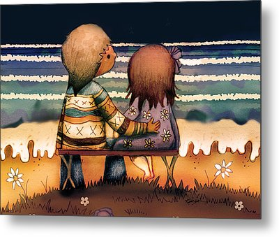 Love Is A Way Of Living Metal Print by Karin Taylor