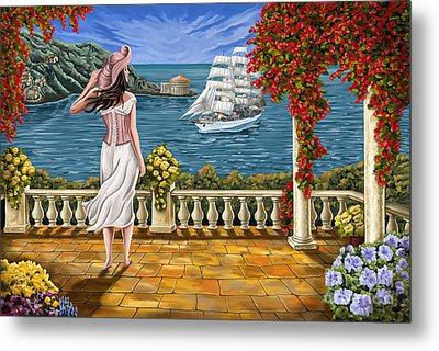 Metal Print featuring the painting Love Is Coming Home by Tim Gilliland