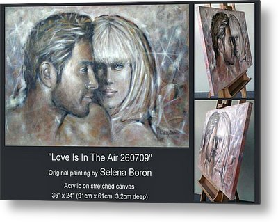 Metal Print featuring the painting Love Is In The Air 260709 Comp by Selena Boron