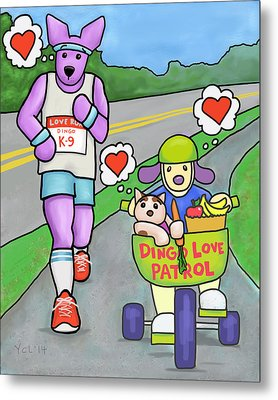 Love Is Making Healthy Choices Metal Print by Yvonne Lozano