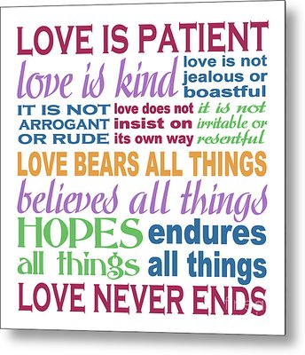 Love Is Patient - Color  Metal Print by Ginny Gaura