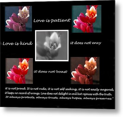 Love Is Patient Metal Print by Ruth Jolly