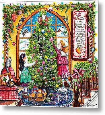 Love Is What Happens At Christmas Metal Print