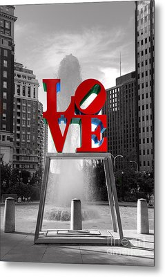 Love Isn't Always Black And White Metal Print