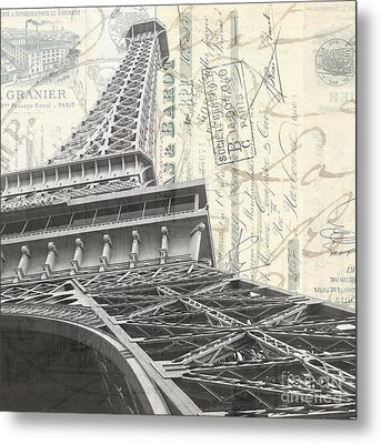 Love Letter From Paris Square Metal Print by Edward Fielding