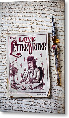 Love Letter Writer Book Metal Print by Garry Gay