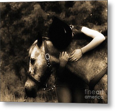 Love Like A Cowgirl Metal Print by Steven  Digman