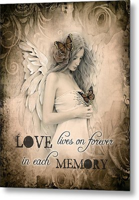 Love Lives On Metal Print by Jessica Galbreth