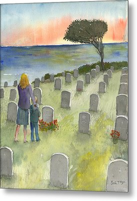 Love Lost By A Setting Sun Metal Print