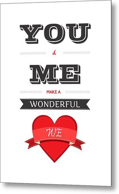 Love Lyrics Quotes Typography Quotes Poster Metal Print by Lab No 4 - The Quotography Department