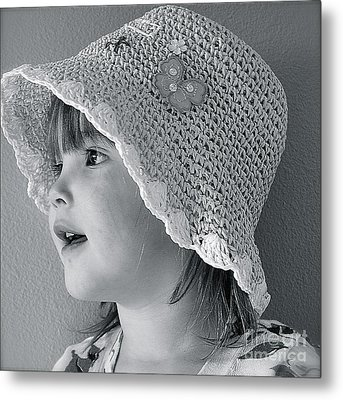 Metal Print featuring the photograph Love My Hat by Barbara Dudley