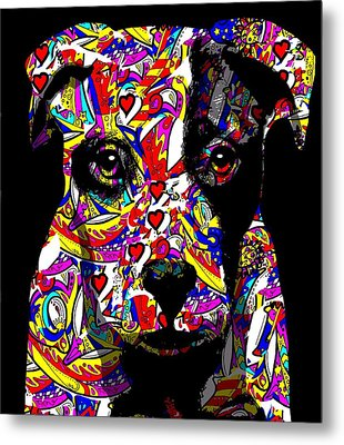 Love My Pup Metal Print by Cindy Edwards