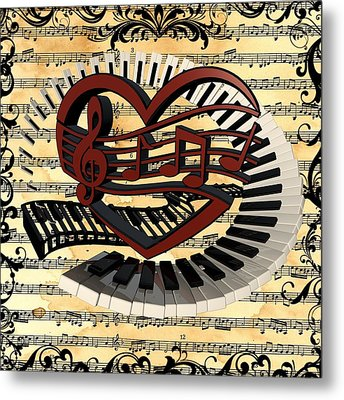 Love Of Music  Metal Print by Louis Ferreira