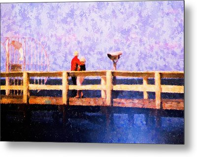 Love On The Pier Metal Print