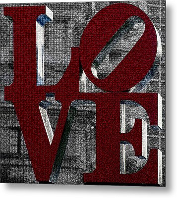 Love Philadelphia Red Mosaic Metal Print