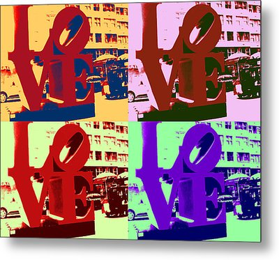 Metal Print featuring the digital art Love Pop Art II by J Anthony