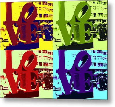 Metal Print featuring the digital art Love Pop Art by J Anthony