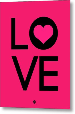 Love Poster 5 Metal Print by Naxart Studio