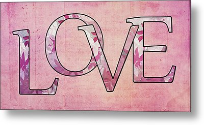 Love - S0102t Metal Print by Variance Collections