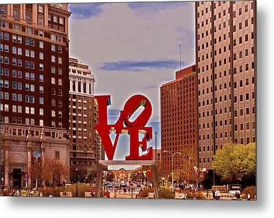 Love Sculpture - Philadelphia - 2 Metal Print by Lou Ford