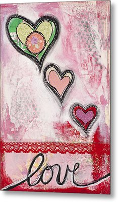 Metal Print featuring the mixed media Love  by Stanka Vukelic