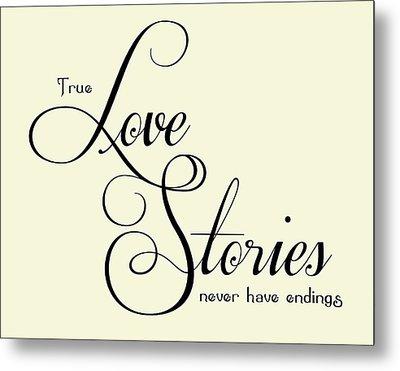 Love Stories Metal Print by Jaime Friedman